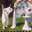Белые мимы на свадьбе