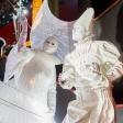 Белые мимы на новогоднем мероприятии